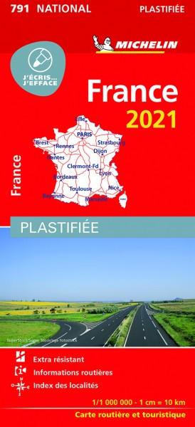 Michelin Frankreich 2021 (plastifiziert)