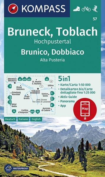 Kompass Wanderkarte Bruneck, Toblach