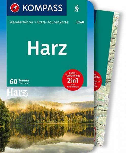 KOMPASS Wanderführer Harz mit Karte