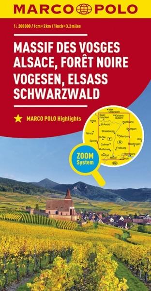 MP Karte Vogesen / Elsass