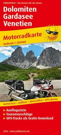 Motorradkarte Dolomiten - Gardasee - Venetien