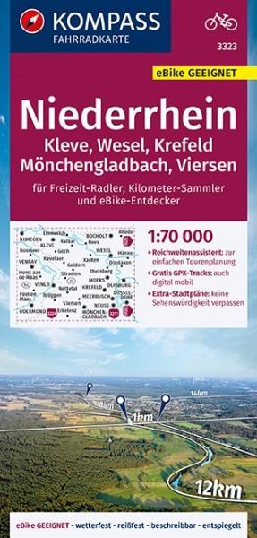 Kompass Fahrradkarte Niederrhein