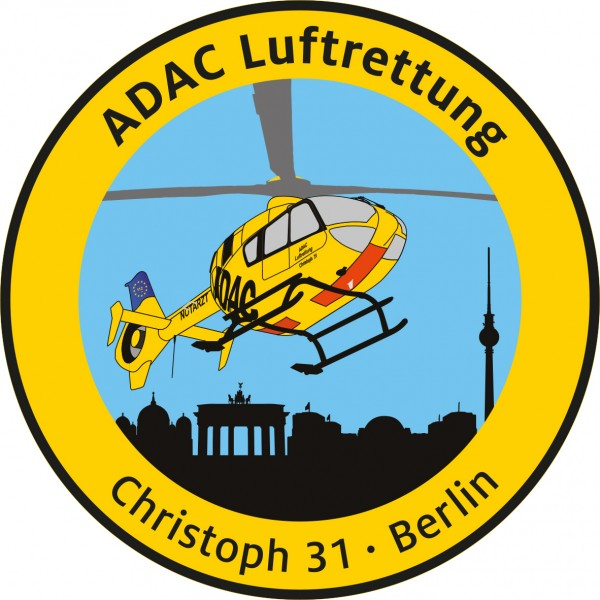 ADAC Luftrettung Fanpatch Christoph 31-Berlin