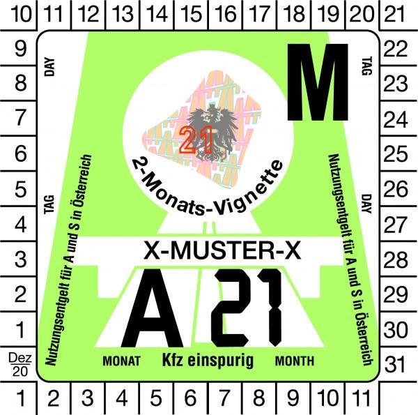 Österreich Vignette Motorrad - 2 Monate