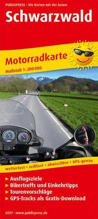 Motorradkarte Schwarzwald