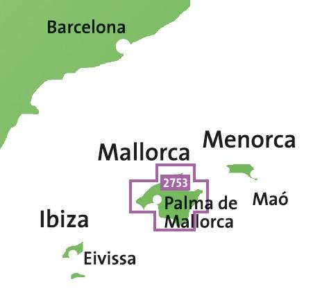 Kompass Wanderkarte Mallorca