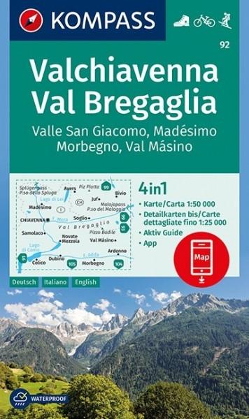 KOMPASS Wanderkarte Valchiavenna, Val Bregaglia