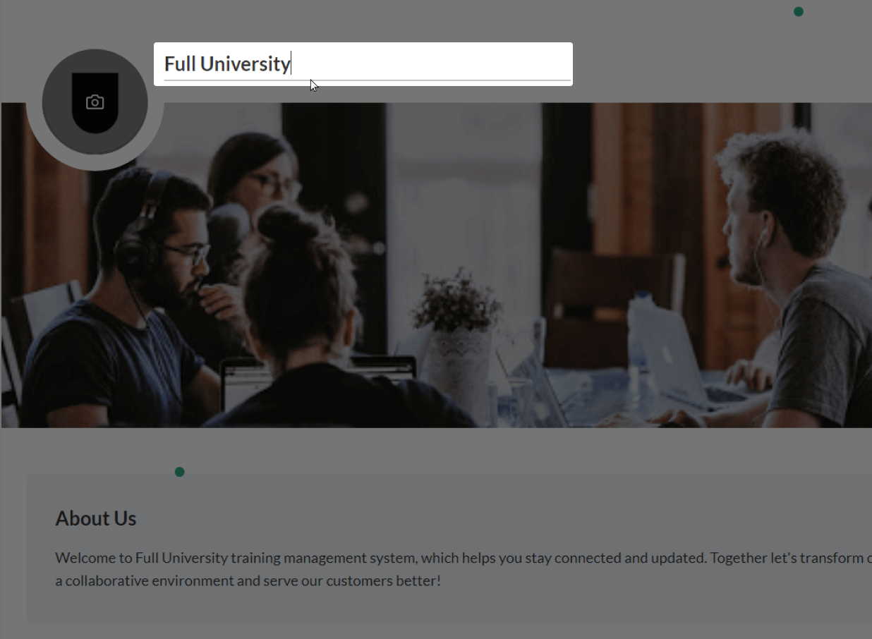 The university being typed as Full University in the university field and about to be saved in AdaptiveU settings.