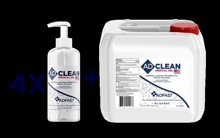 Adclean gel hand sanitizer 2.6 US gal format
