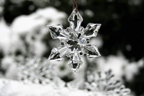 Cristalli di ghiaccio da appendere all'albero di Natale