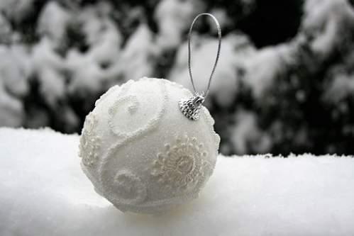 Pallina per albero di Natale effetto neve