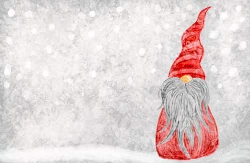 Babbo Natale stilizzato sotto la neve
