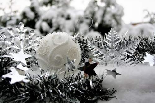 Addobbi Natalizi Effetto Neve con stella di ghiaccio