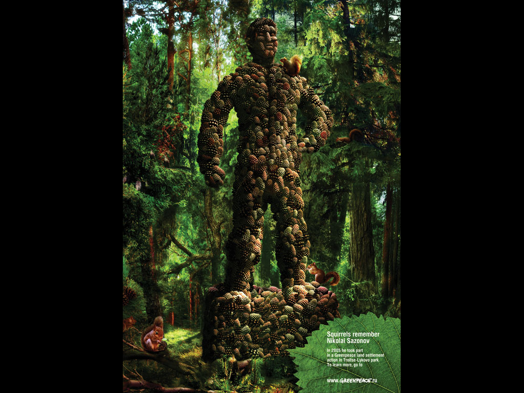 Greenpeace Statue By Act Responsible Tributes 2009