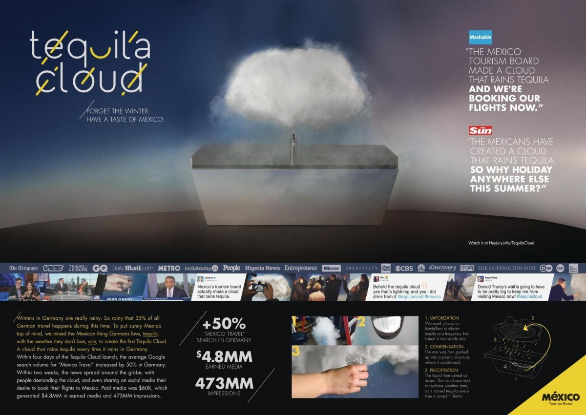 Mexico Tourism Board Tequila Cloud By Cannes Lions