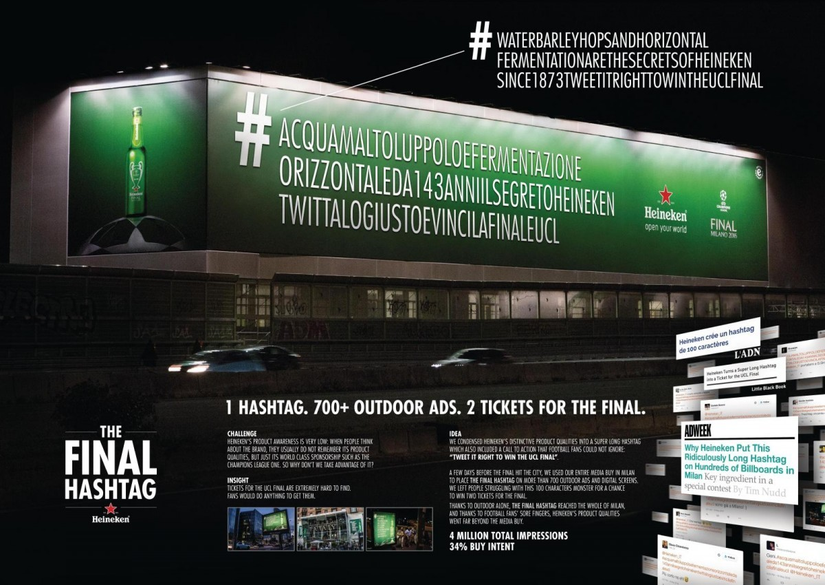 Heineken The Final Hashtag By Cannes Lions International