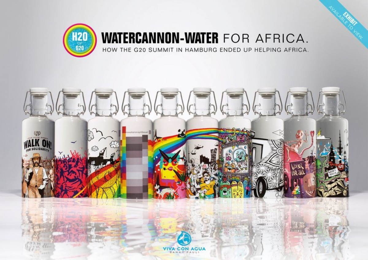 Viva Con Agua H2o Of G20 Watercannon Water For Africa
