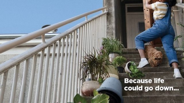 Get BUPA Cover. Before Life Happens (Stairs)