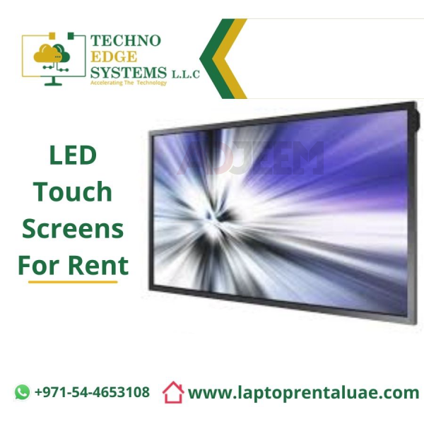 Effective And Interactive Touch Screen Rental Dubai