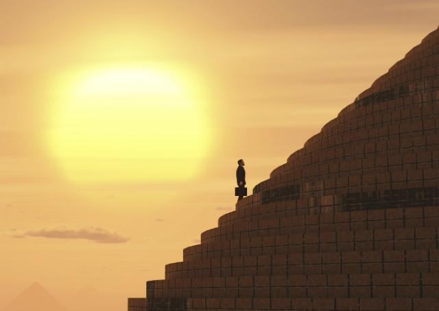 A pirâmide da carreira