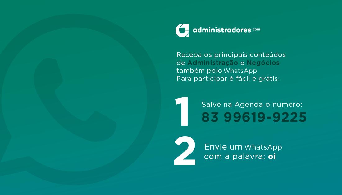 Agora você pode acompanhar o Administradores pelo Whatsapp