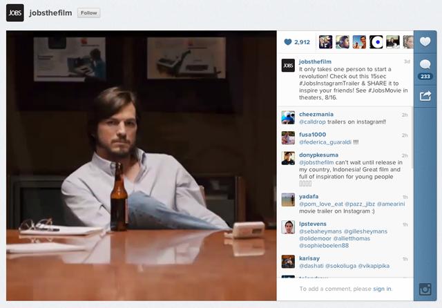 Novo trailer do filme sobre Steve Jobs é lançado no Instagram
