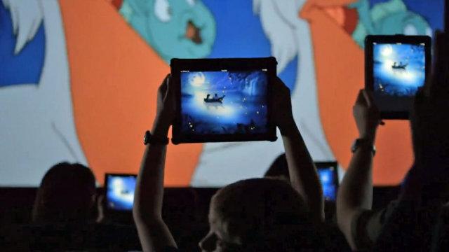 Disney pede para que as pessoas levem tablets para o cinema