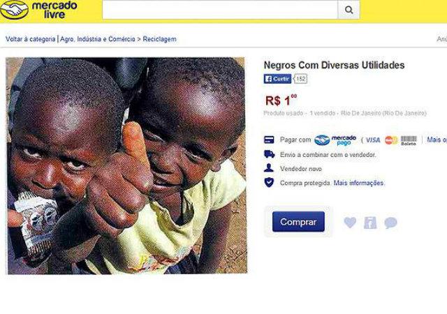 Secretaria identifica autor de anúncio que 'vende negros' no Mercado Livre