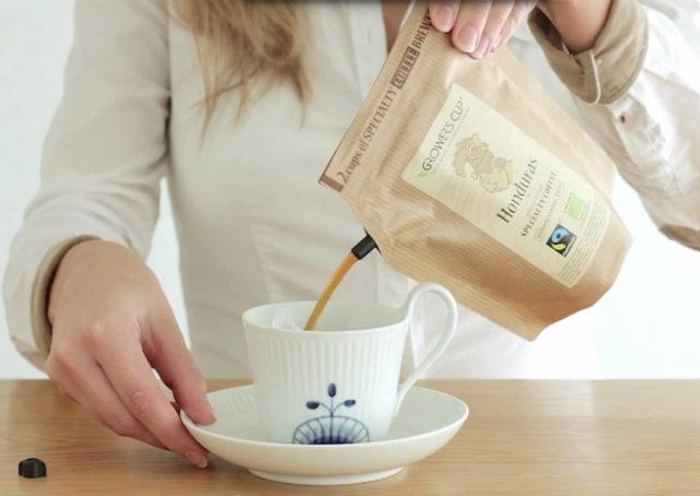 Empresa cria embalagem de café que dispensa o uso de aparelhos