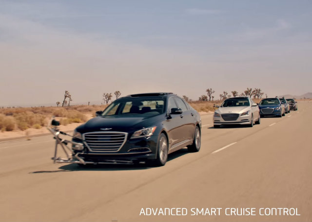 Hyundai faz demonstração de automóveis que dispensam motoristas