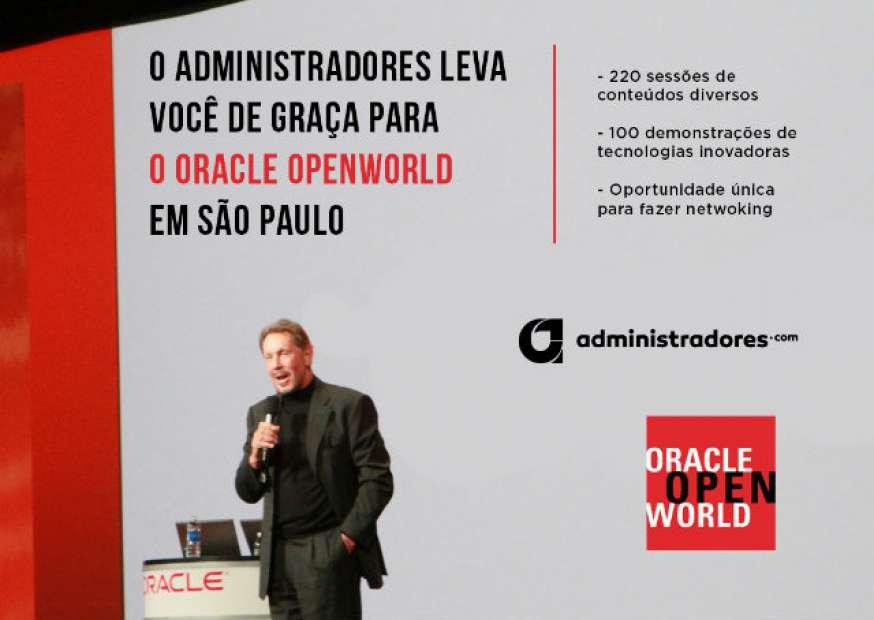 O Administradores leva você de graça para o Oracle OpenWorld em SP