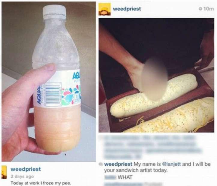 Funcionários do Subway passam pênis nos pães da lanchonete e postam foto no Instagram
