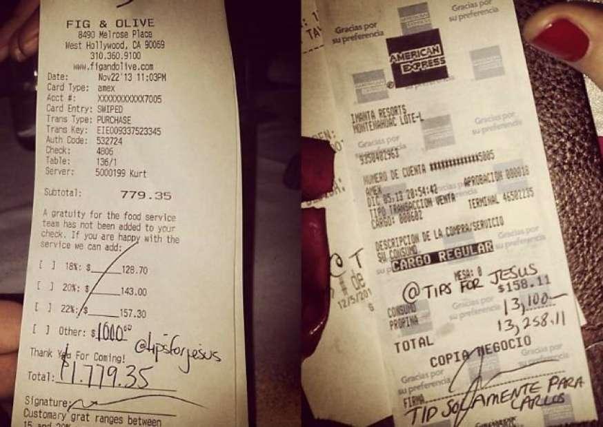 O verdadeiro rei do camarote? Cliente anônimo dá gorjetas de mais de US$ 10 mil