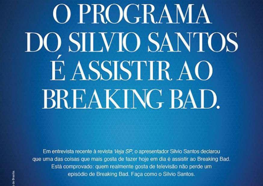 Record ameaça processar Netflix por plágio de propaganda que traz Sílvio Santos e Breaking Bad
