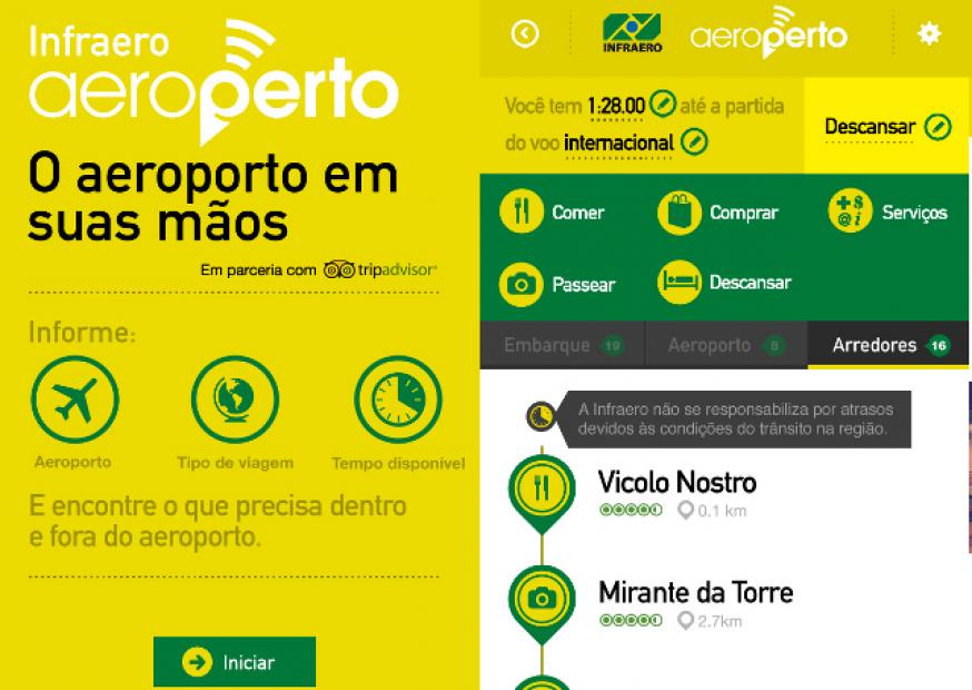 Infraero lança aplicativo que oferece aos viajantes informações sobre aeroportos e redondezas