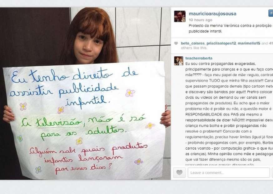 Maurício de Sousa defende publicidade infantil e recebe críticas
