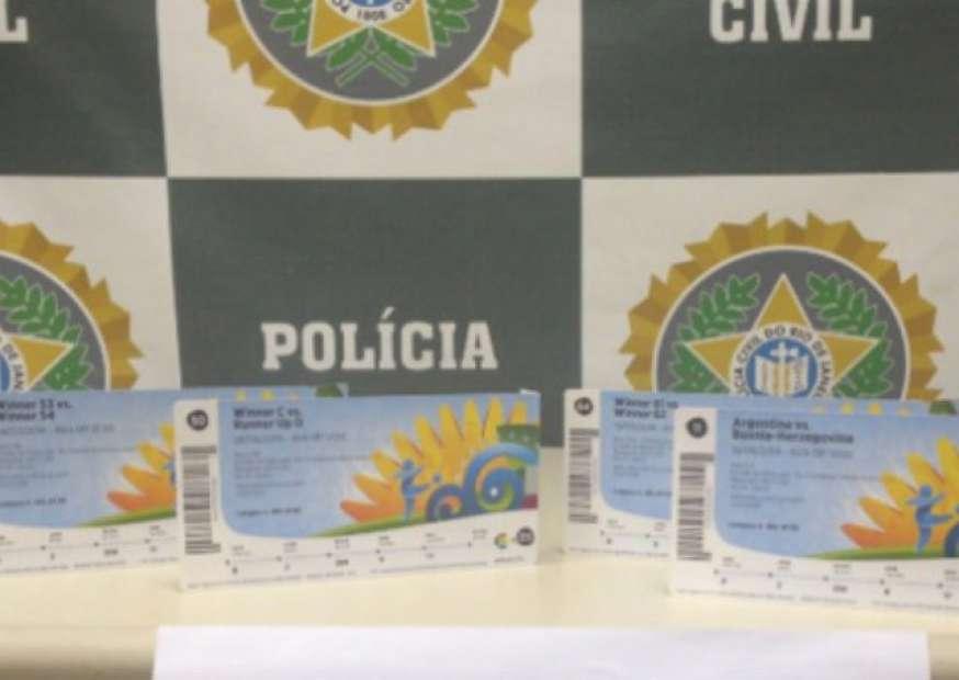 Homem é preso por tentar vender ingresso para a final da Copa a R$ 38 mil