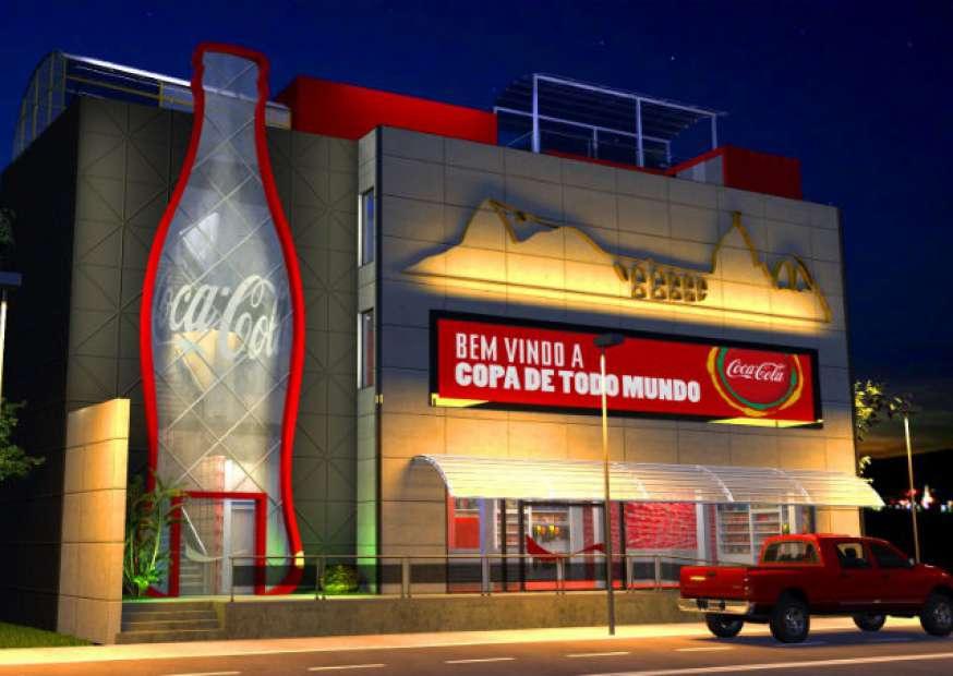 """Casa Coca-Cola promove a """"Copa de todo mundo"""" em frente ao Maracanã"""
