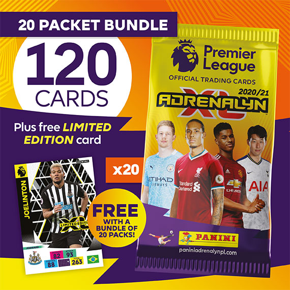 20 packet bundle/120 cards plus free LIMITED EDITION card (Joelinton)