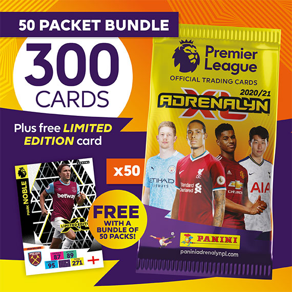 50 packet bundle/300 cards plus free LIMITED EDITION card (Mark Noble)