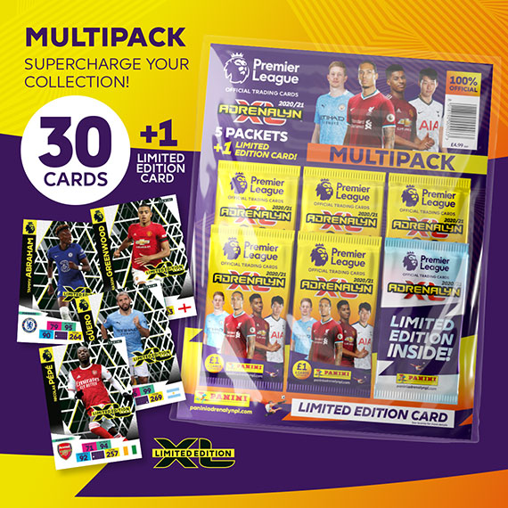 Multipack: supercharge your collection! 30 cards + 1 Limited Edition card