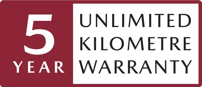 5yr unlimited KM Warranty