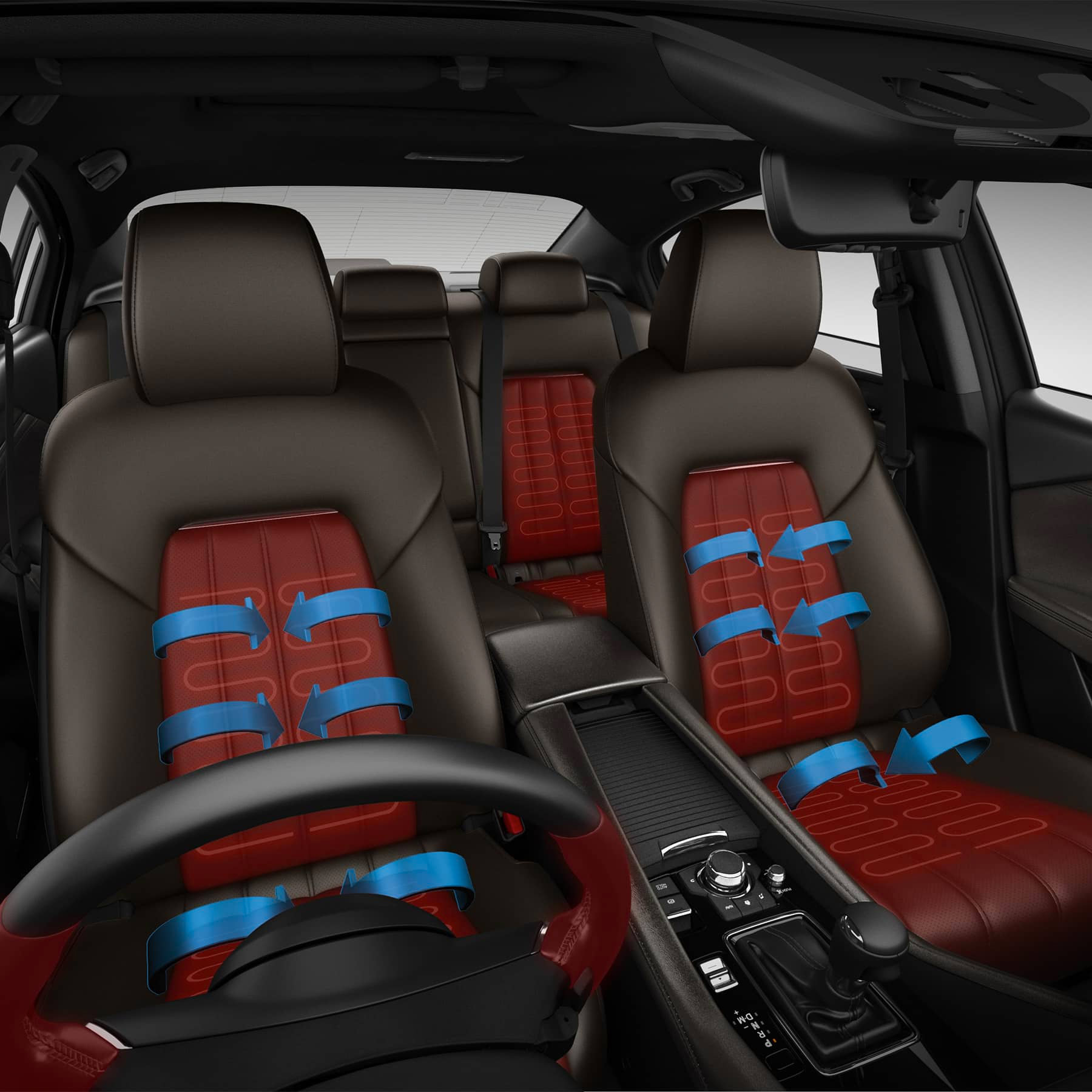 Heated and Ventilated Seats, Heated Steering Wheel