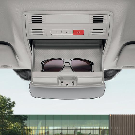 Glasses compartment