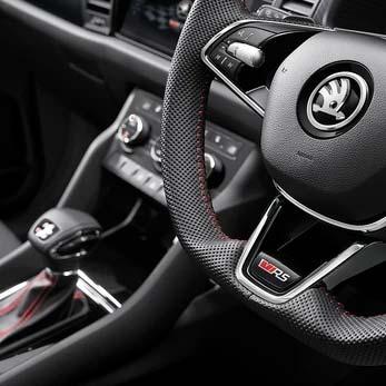 Multifunction Leather Steering Wheel