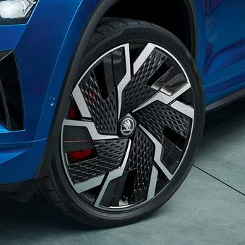 19 inches Black CRATER Alloy Wheels