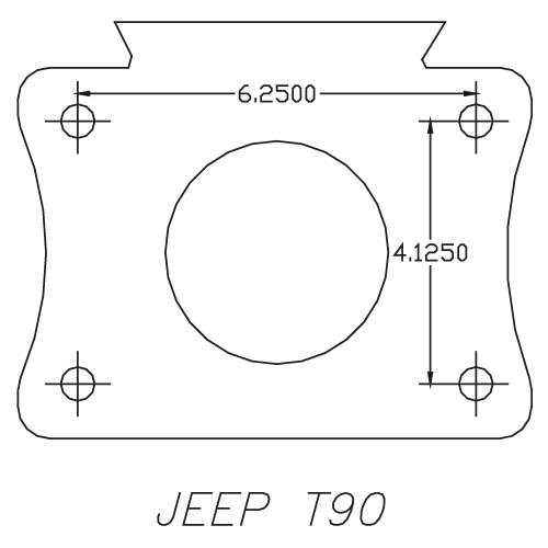 712502A : Chevy / Buick Engine to Jeep T90 Transmission Adapter Kit