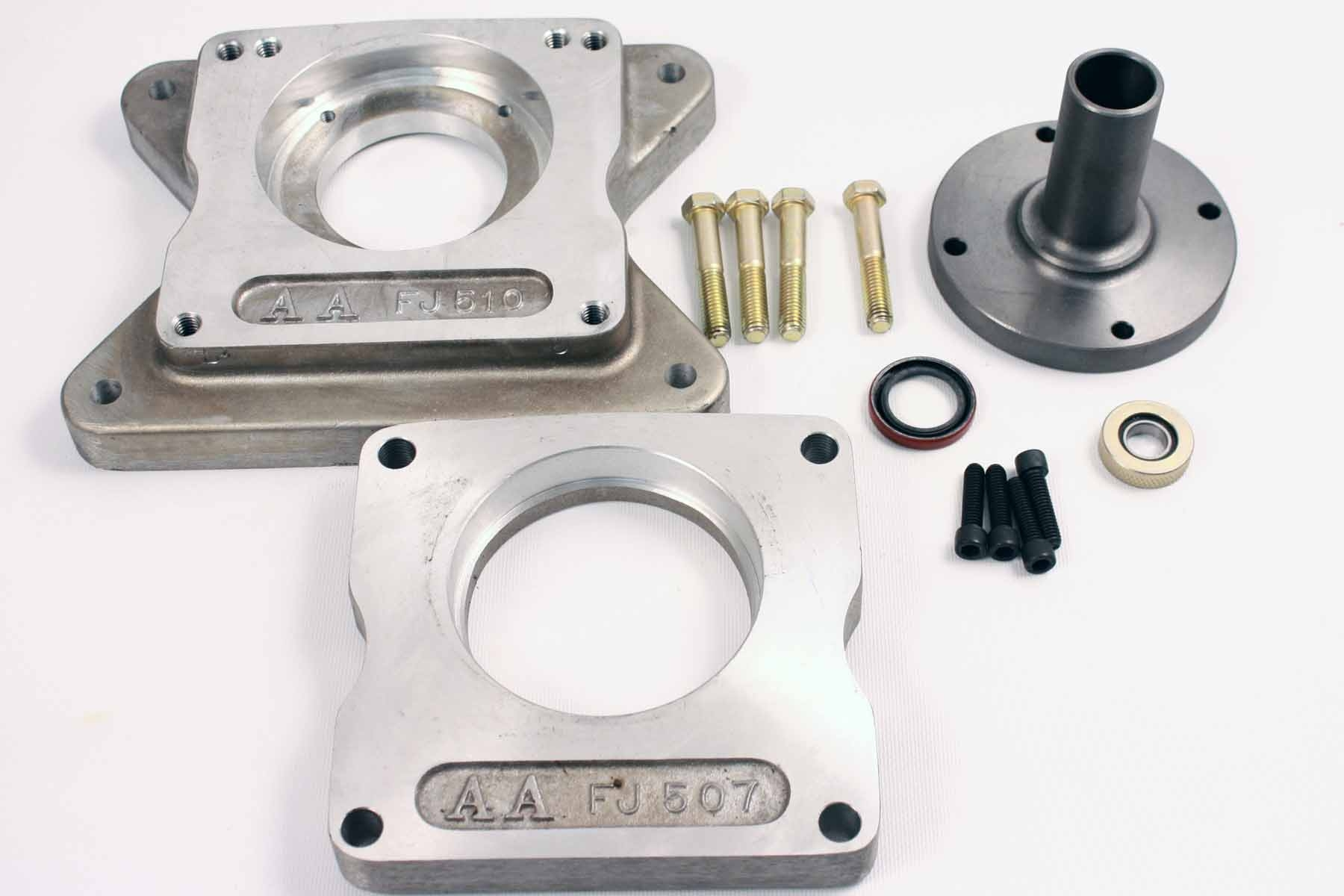 712508 : Ford V8 to Jeep T14 or T86 Transmission Adapter Kit