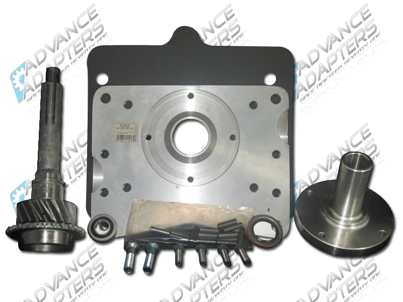 712514 : Ford V8 to Jeep T18 Transmission Adapter Kit
