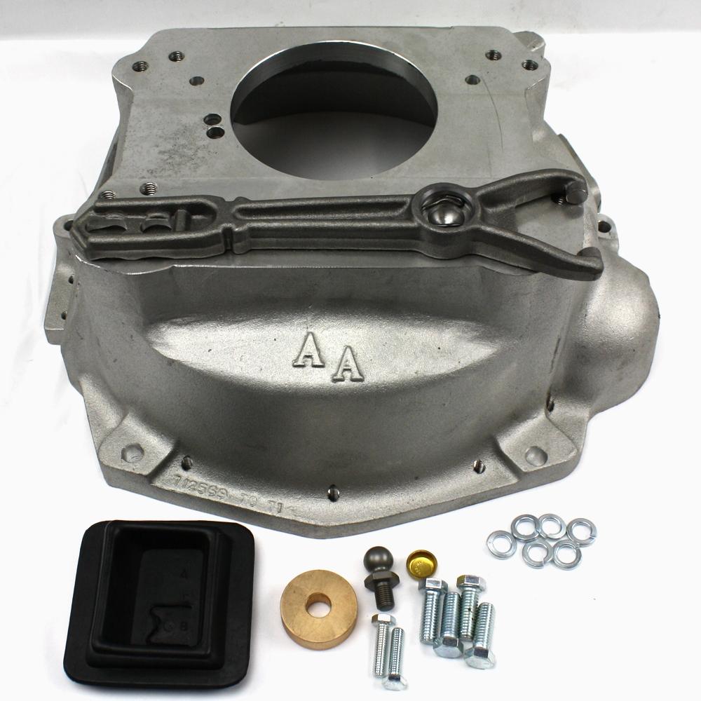 712569 : jeep wrangler 4 0l to jeep cj7 series transmission (t-4, t-5,  t-150,t-176) adapter bellhousing kit  | advance adapters